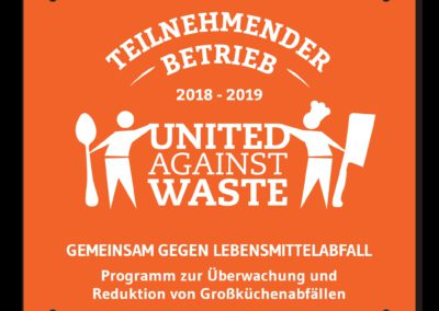 Plakette United Against Waste